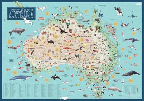 Australia Illustrated Map  by Tania McCartney