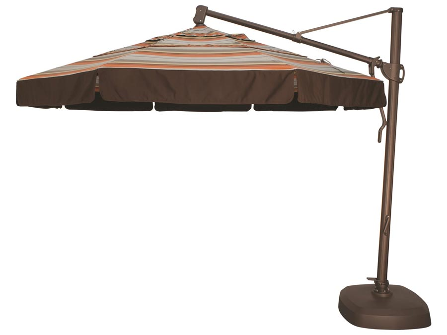 11 foot CANTILEVER (SHOWN IN BRONZE POLE, OPTIONAL VALENCE) BASE INCLUDED