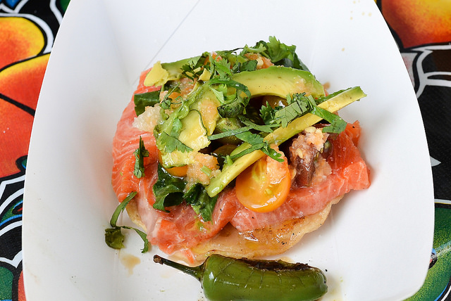 Sehr gesund:Salmon Crudo Tostada