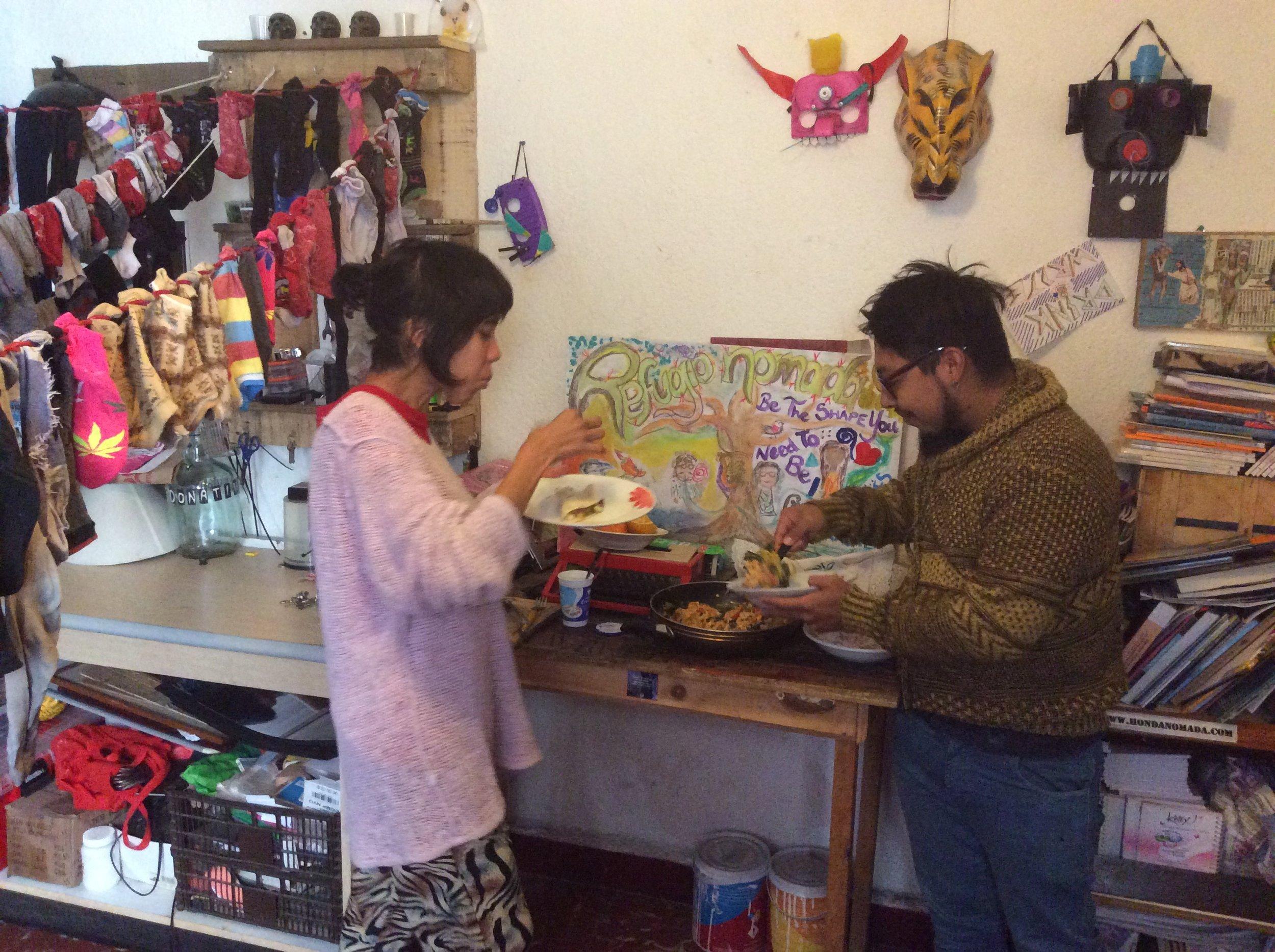 My leaving lunch - Cynthia Franco and Karloz Atl.