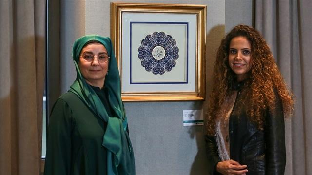 Behnaz (right) with her teacher Mujgan Baskoylu