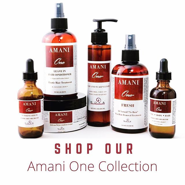 Our AMANI ONE collection is 💯 Natural made with exotic ingredients with cosmeceutical results!