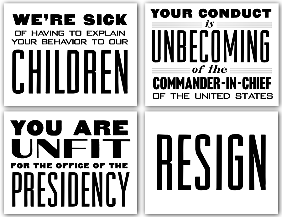 """""""America Speaks"""" Black & White 4-Pack   Click the image to download a Microsoft Word file (440KB)"""