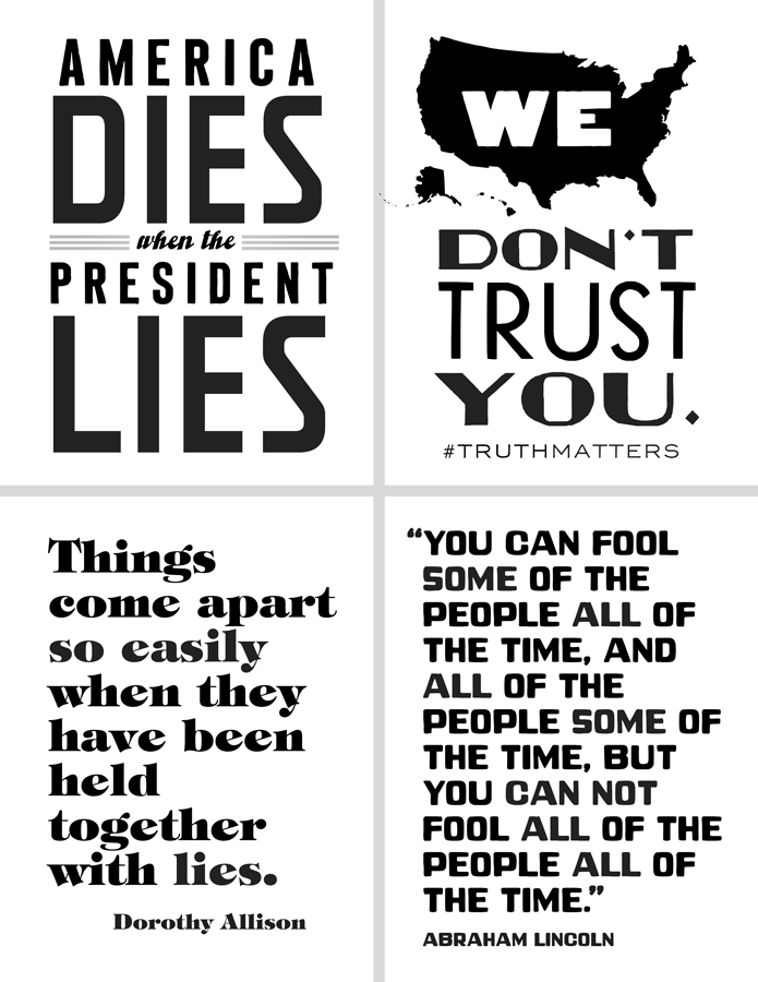 """""""Truth Matters"""" Black & White 4-Pack   Click the image to download a Microsoft Word file (500KB)"""