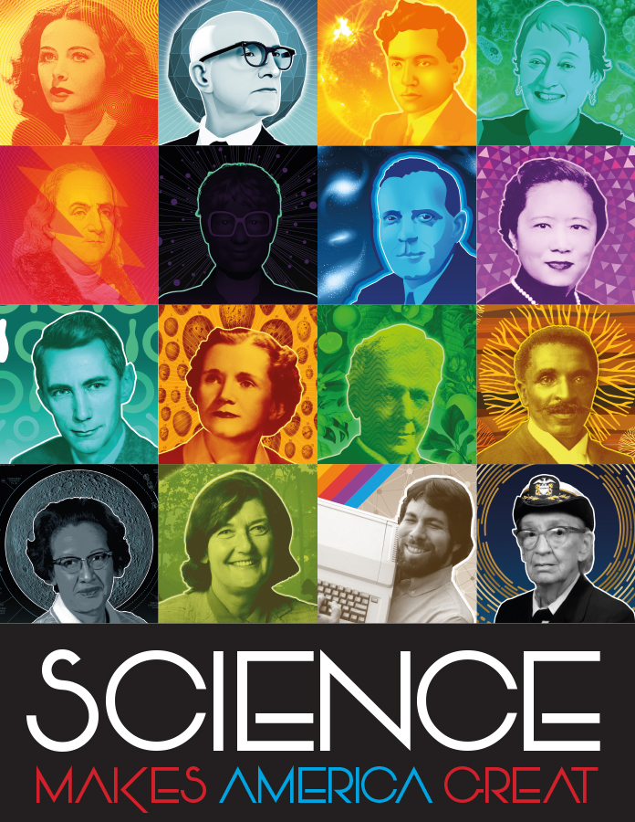 American Science Mosaic Poster