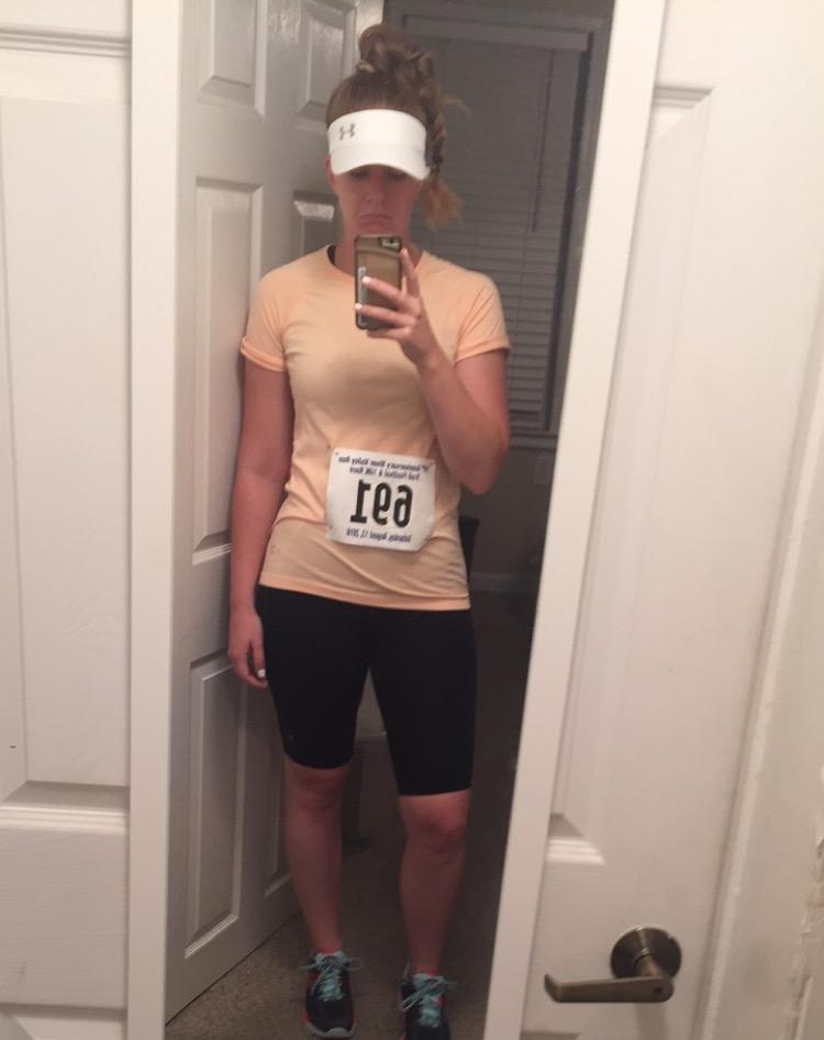 10k Trail Race in 2016 (pre-diagnosis) - dreading the heat.