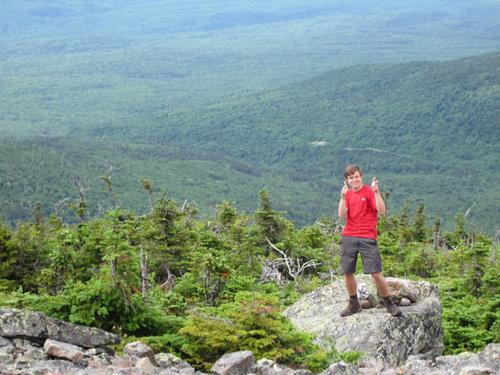 Joe hiking the Appalachian Trail
