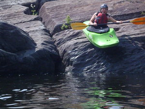 Abby Foster joins Chewonki's Teen Wilderness Trips - 3 weeks of learning whitewater kayaking skills