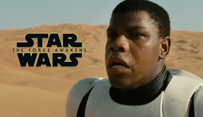 John Boyega controversial introduction into the Star Wars franchise ni Star Wars the Force Awakens (2015)