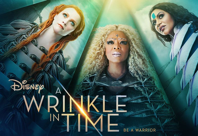 A poster prompting Disney's A Wrinkle in Time directed by  Ava DuVernay