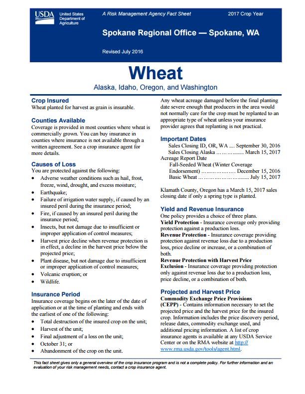 Wheat Fact Sheet