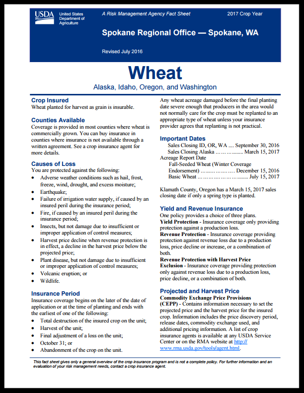 Wheat Fact Sheet