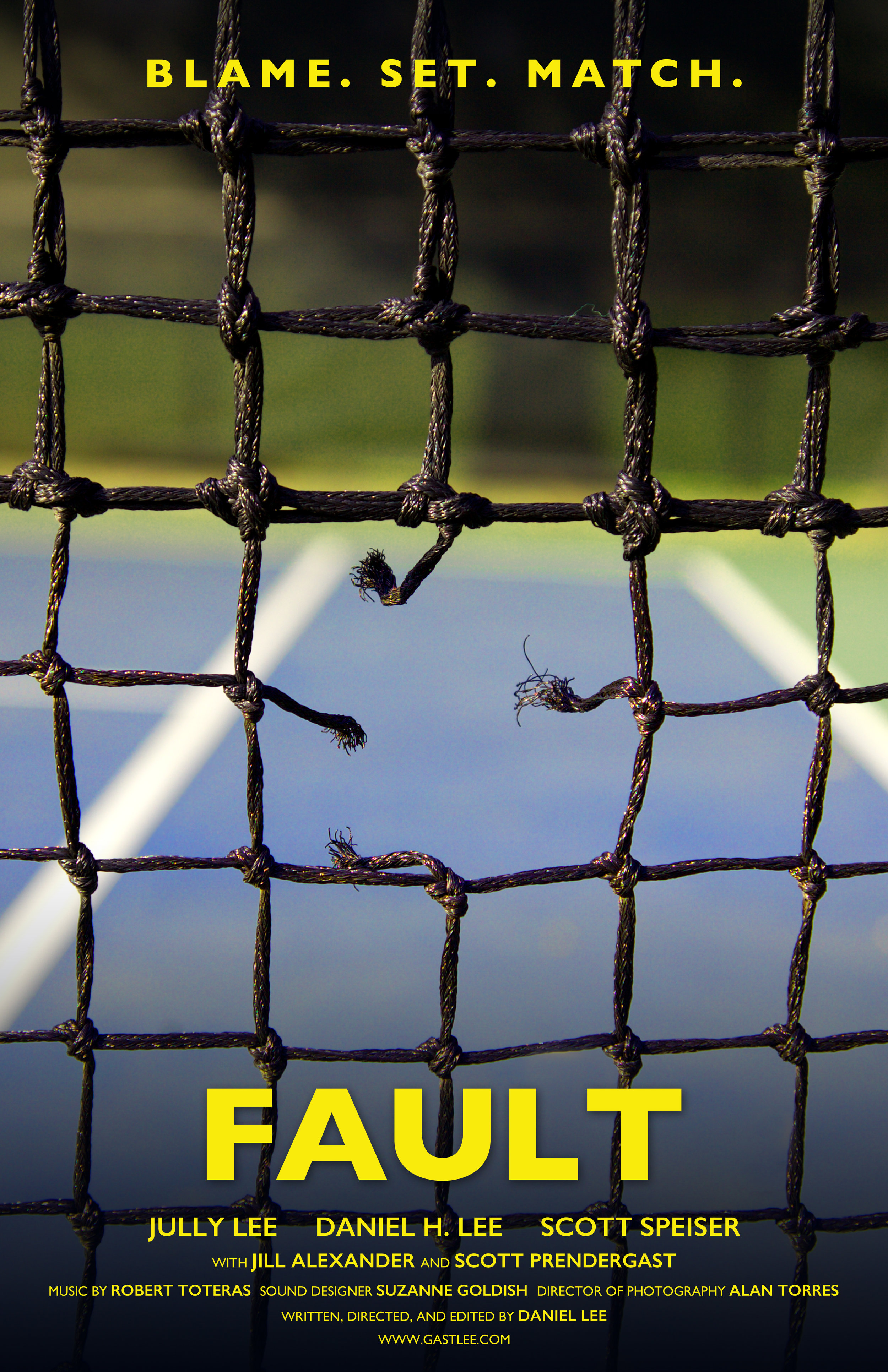Fault - Narrative Short, Dramedy. (Writer-Director)Based on a true story, a professional tennis player hurls racist abuse at an estranged brother and sister, provoking unexpected confrontations.