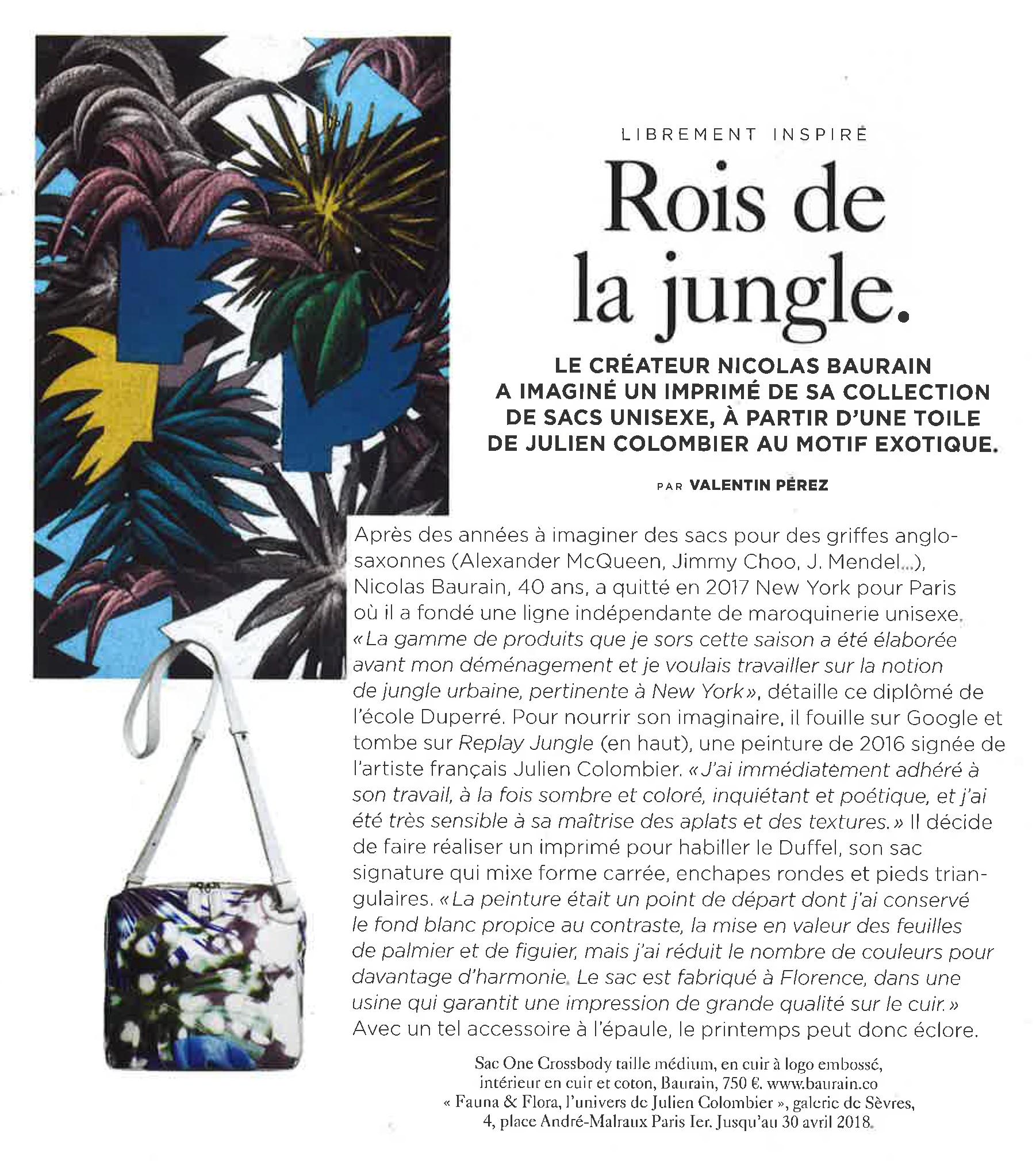 BAURAIN - M Le Monde April 2018