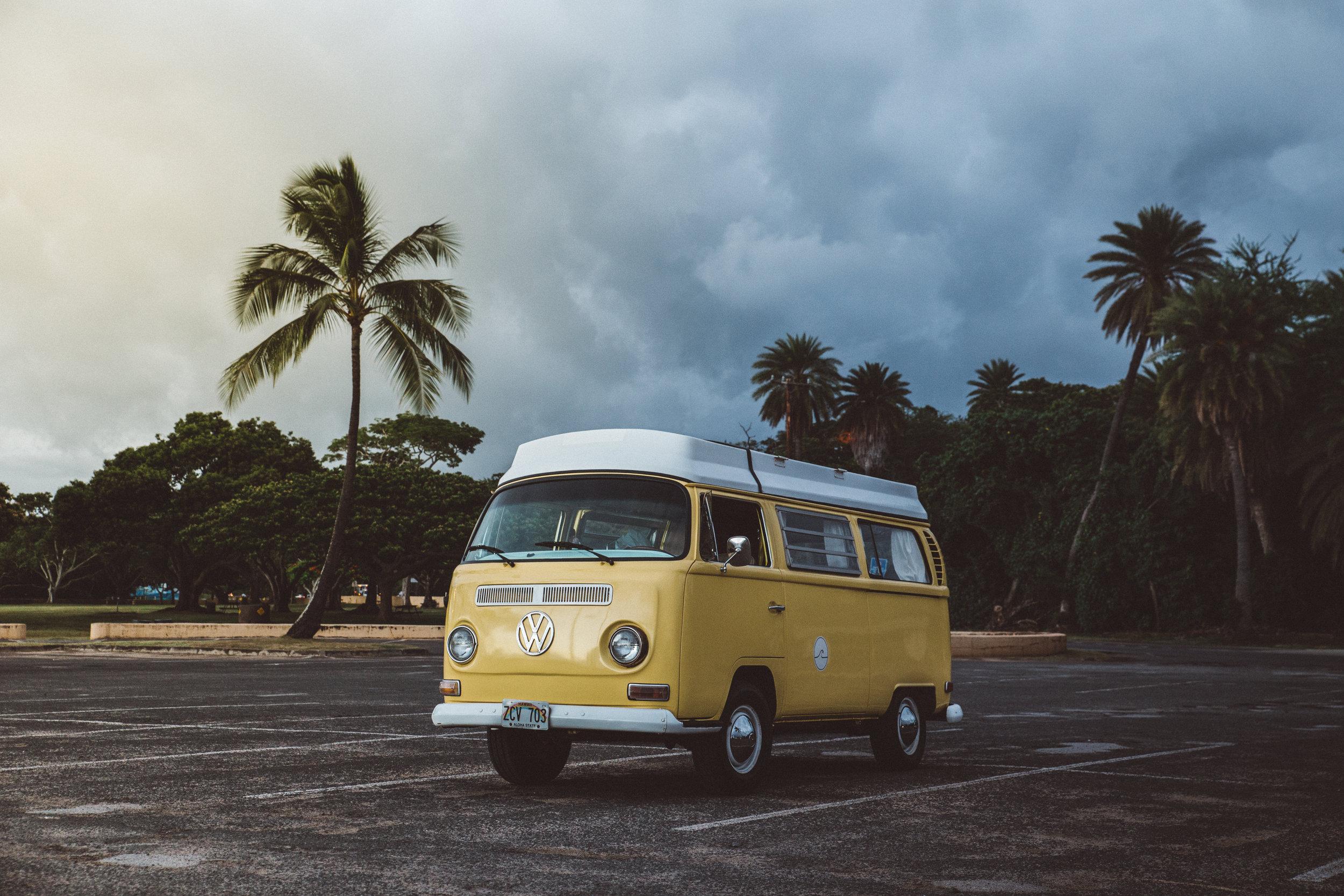 VW Van Sunset Hawaii