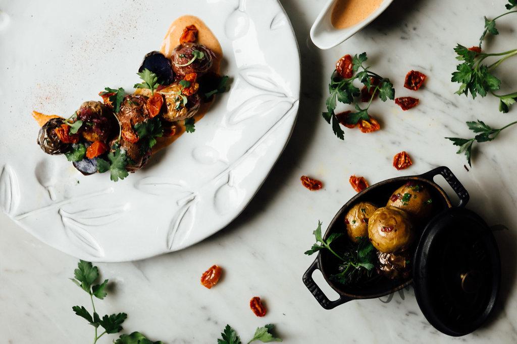 Roasted Potatoes - sundried tomatoes, chili sauce