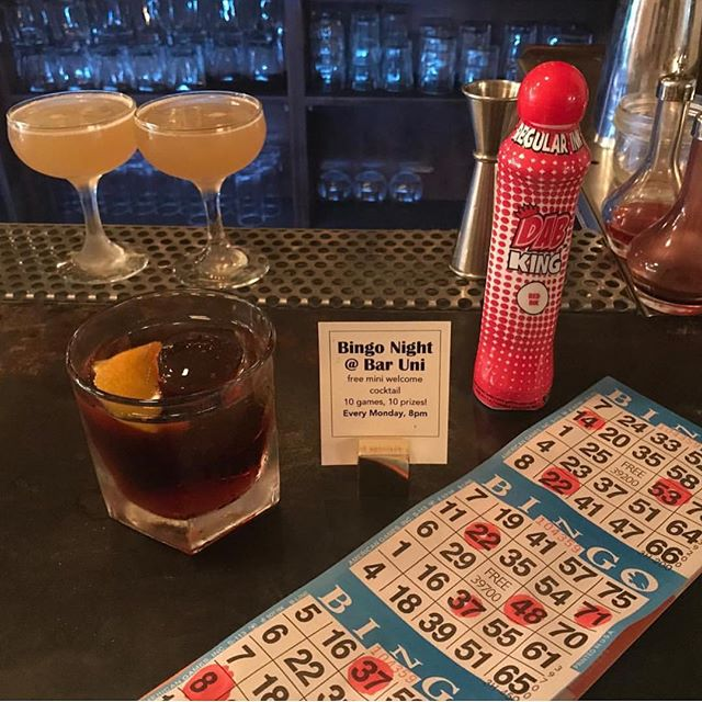 Did you know we now host bingo on Wednesdays?! 10 games, 10 prizes and free to play.. Also we have a new $8 japanese curry pot pie special from Chef @littlest_j and $9 hot toddy of the night to keep you warm from @avak_yall ! See you soon. #greenpoint #brooklyn #bingo #specials #happyhour #nomnom
