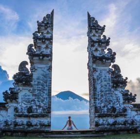 Pura Luhur temple in Bali.