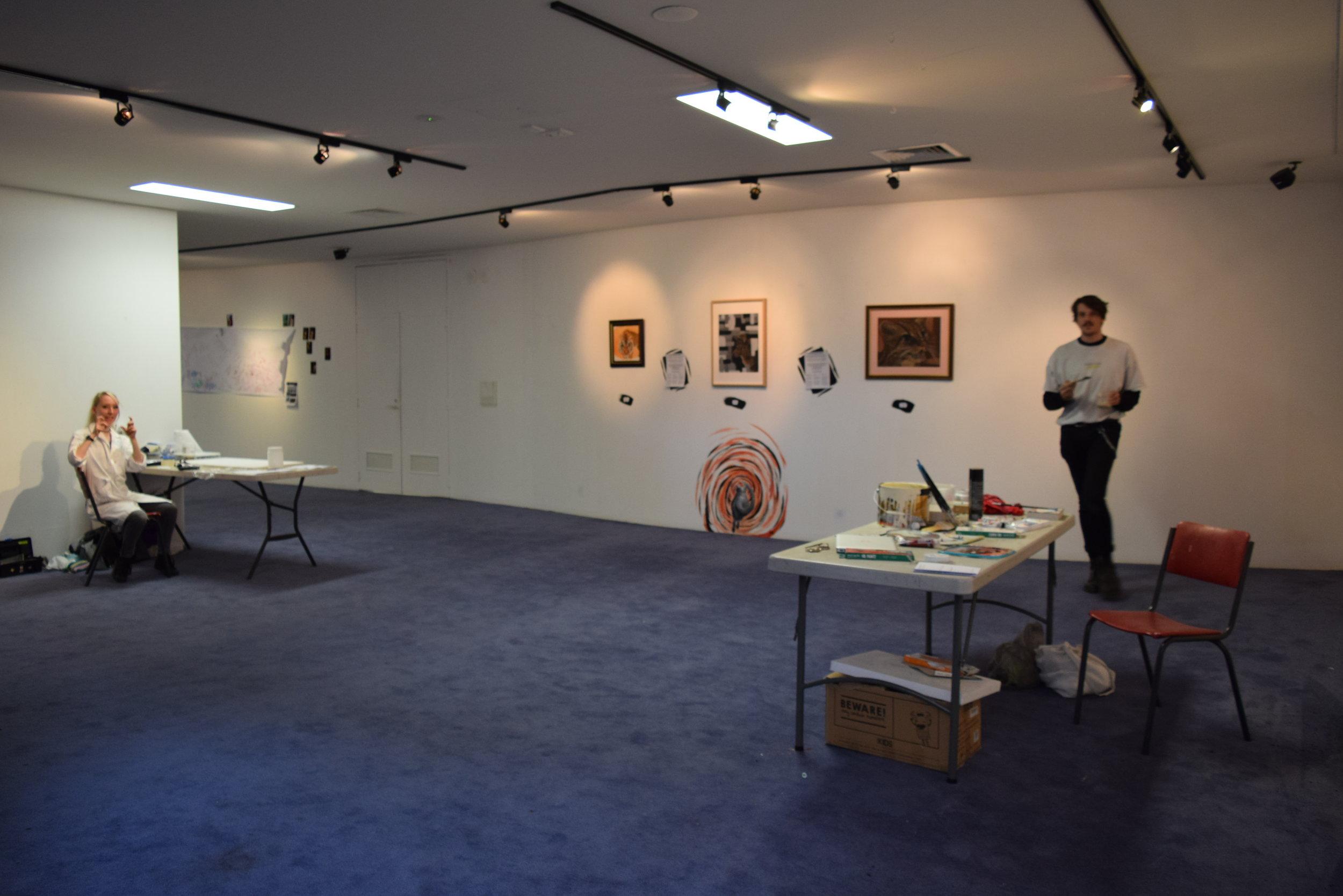 Artist Catherine Jewell (left) and artist and Growing Pains team member Brendan Hartnett (right)