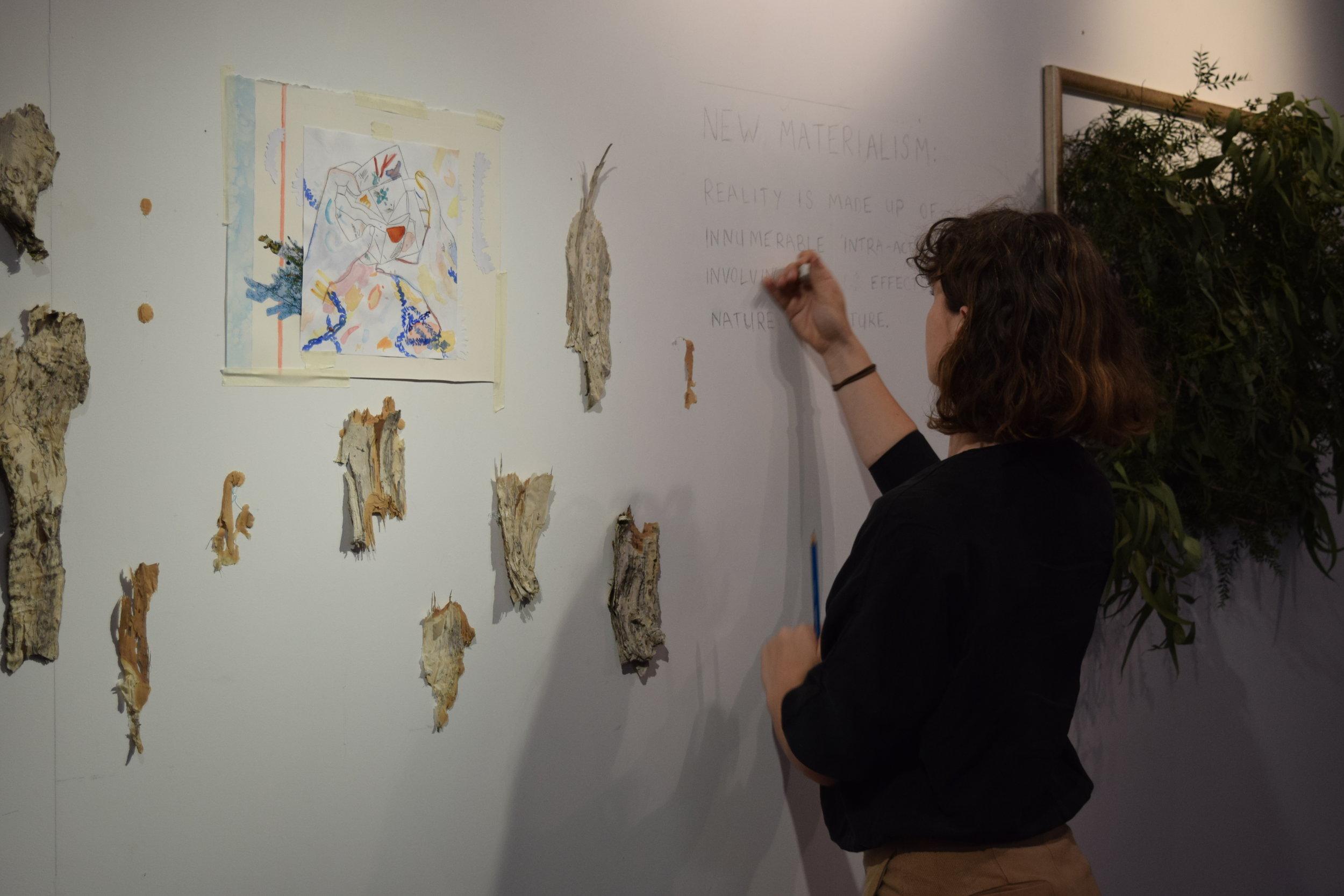 Artist Holly Godfrey at work
