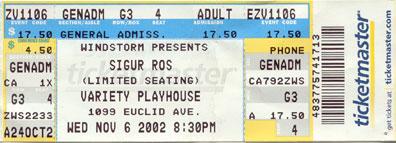 Sigur Ros 2002