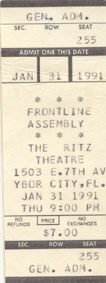Front Line Assembly 1991
