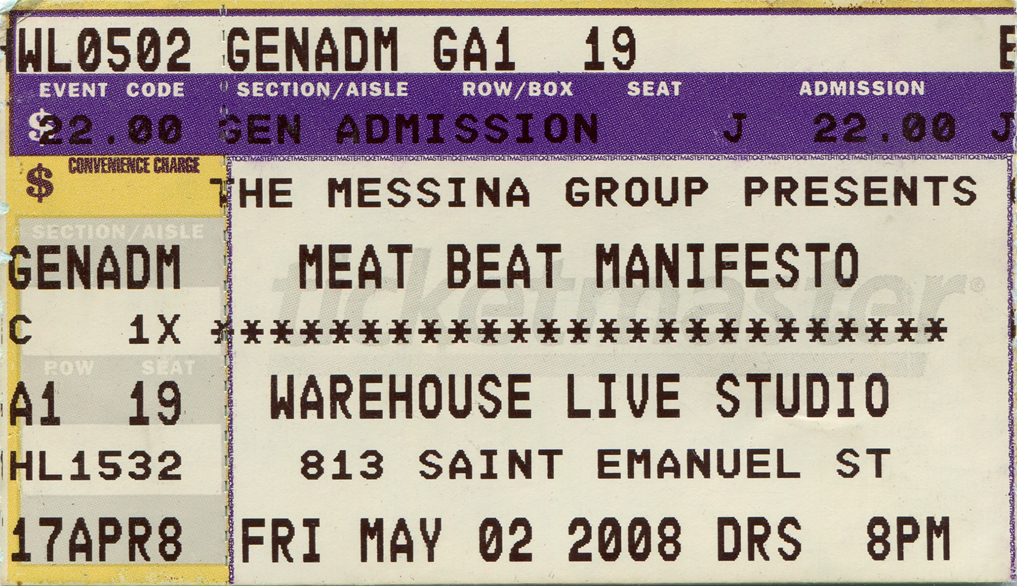 Meat Beat Manifesto 2008