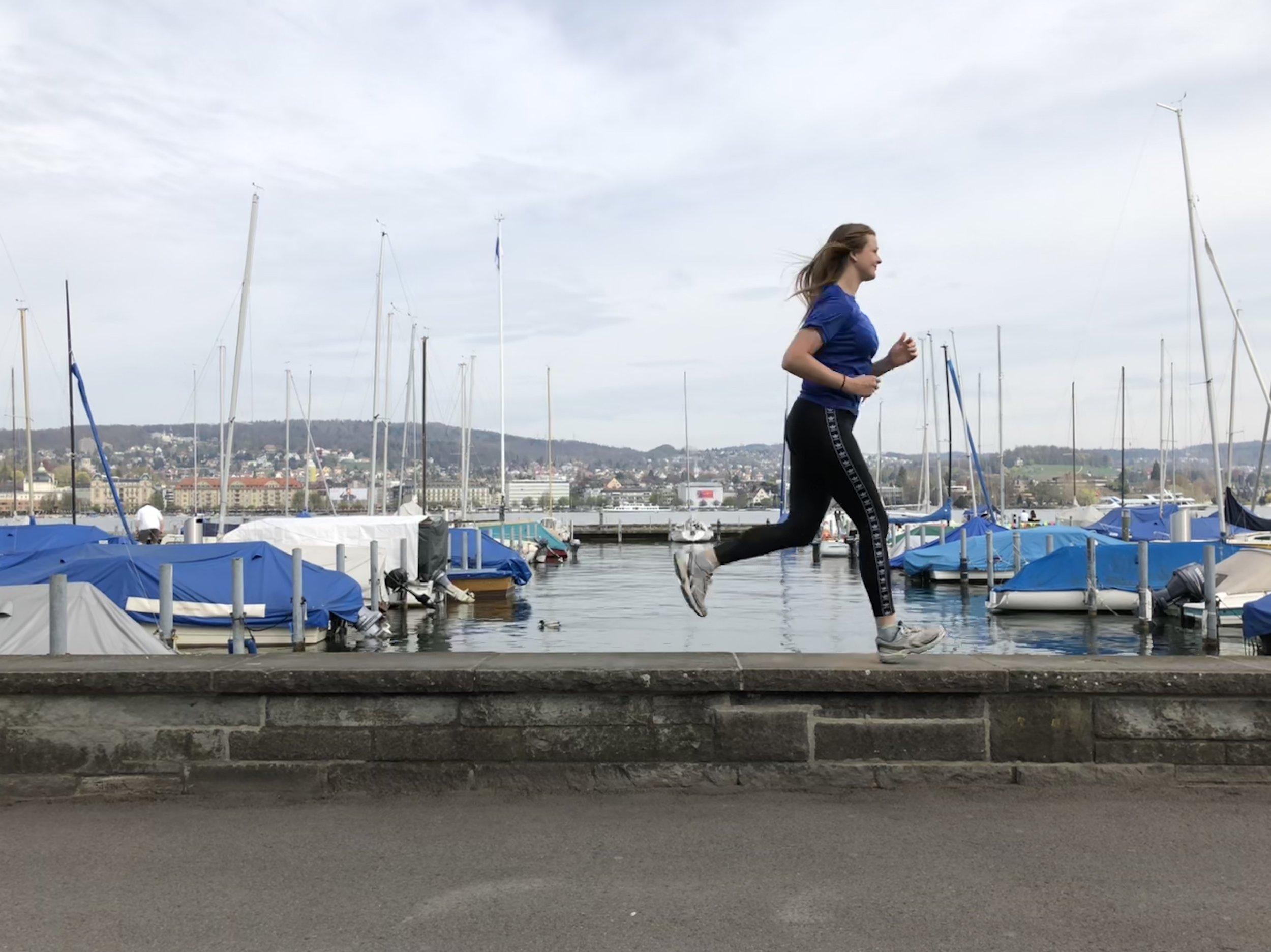 A 5-10 km lakeside run on the beautiful lake Zurich