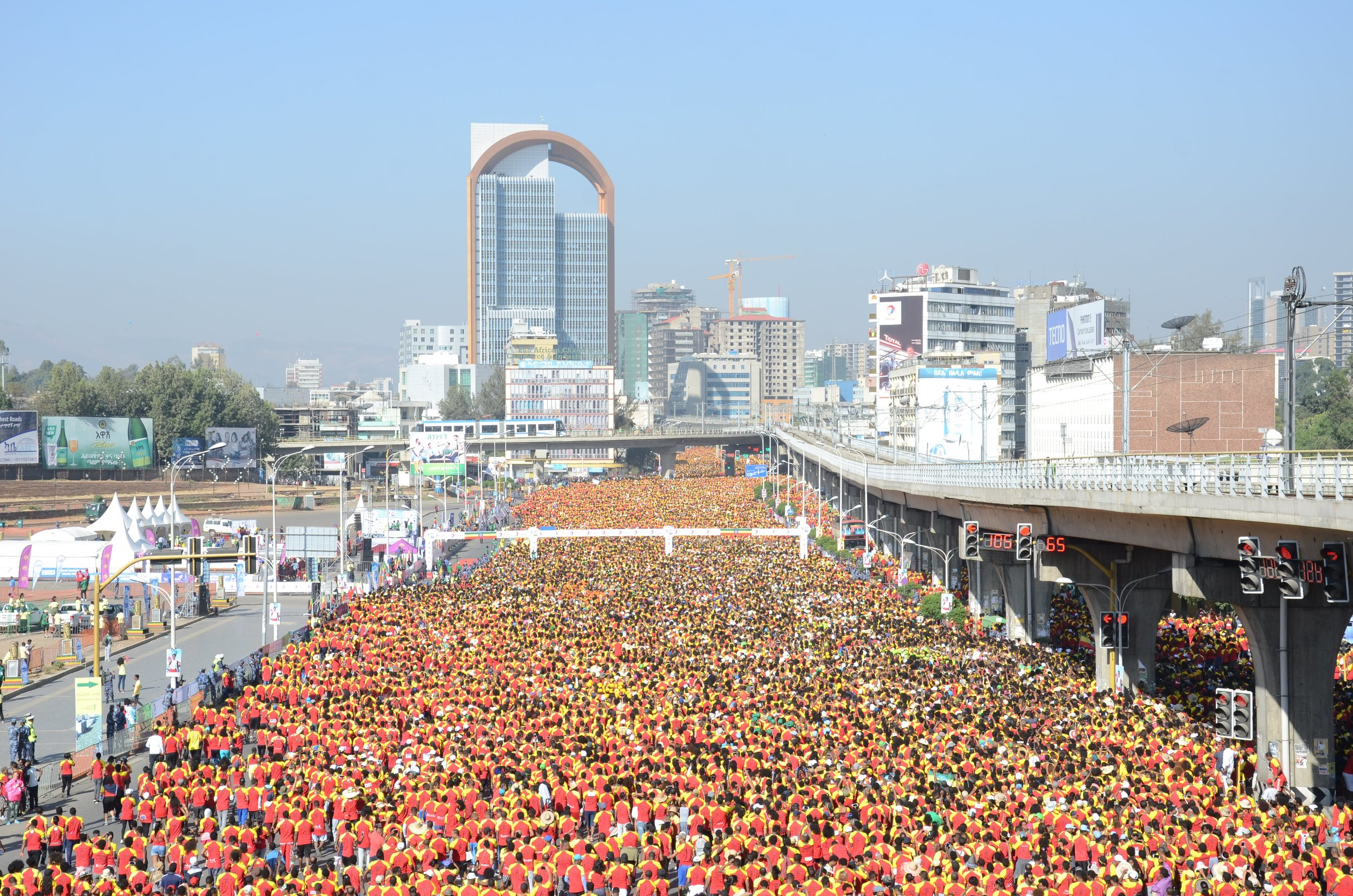 The start line at the Great Ethiopian Run