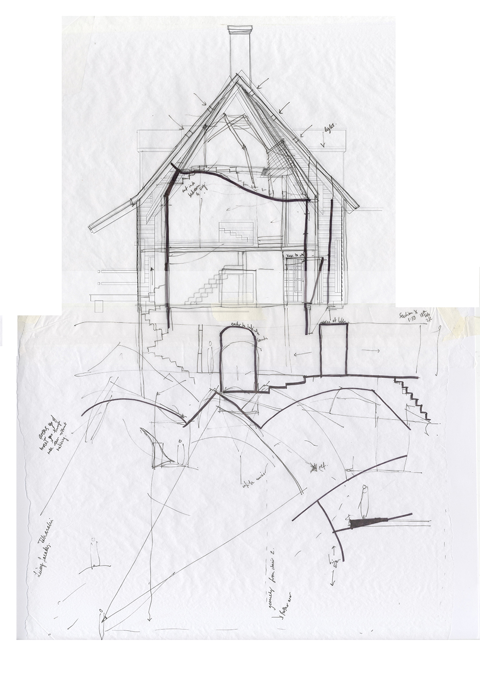 Sketch Section 2 - House of Leaves - Space and Paper