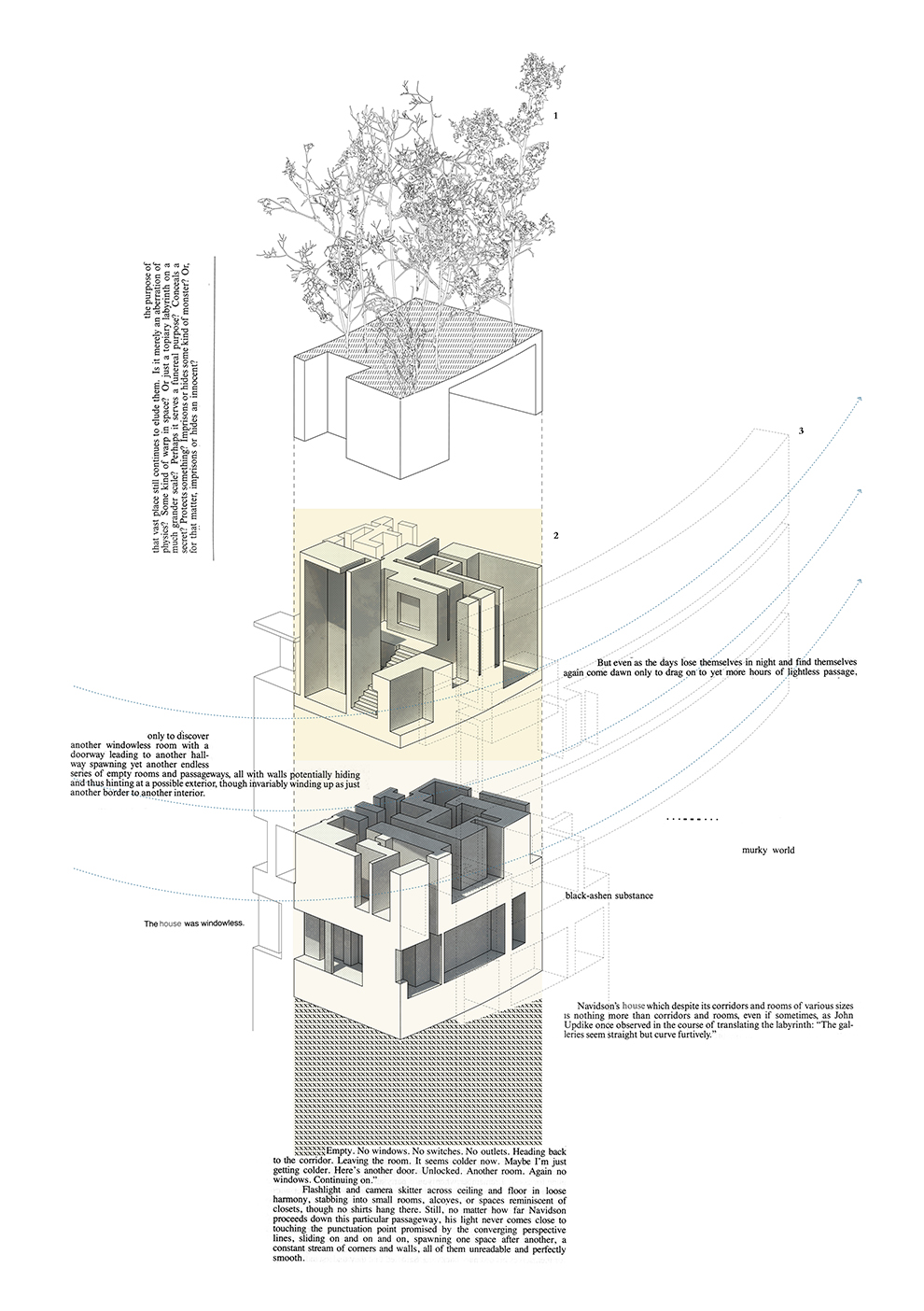 The Maze - House of Leaves - Space and Paper