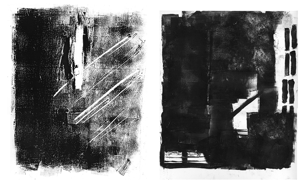 Monoprint - House of Leaves - Space and Paper