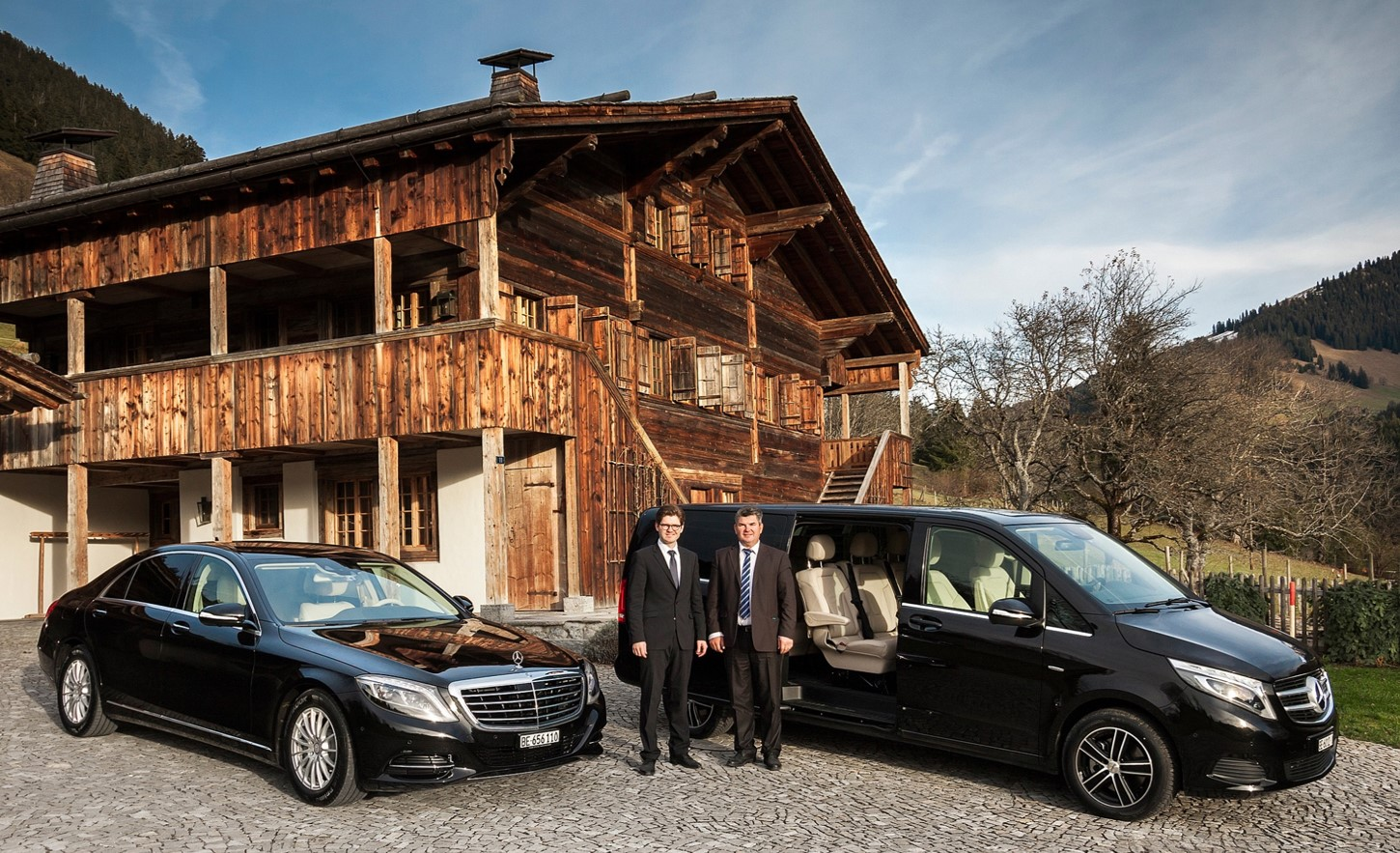 Owners of Gstaad Limousine Service by Taxi Simon (l.t.r.: Mario and Zoran Mitic)