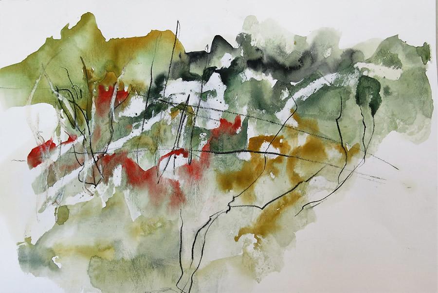 Lesley Woodward Watercolour Sketch