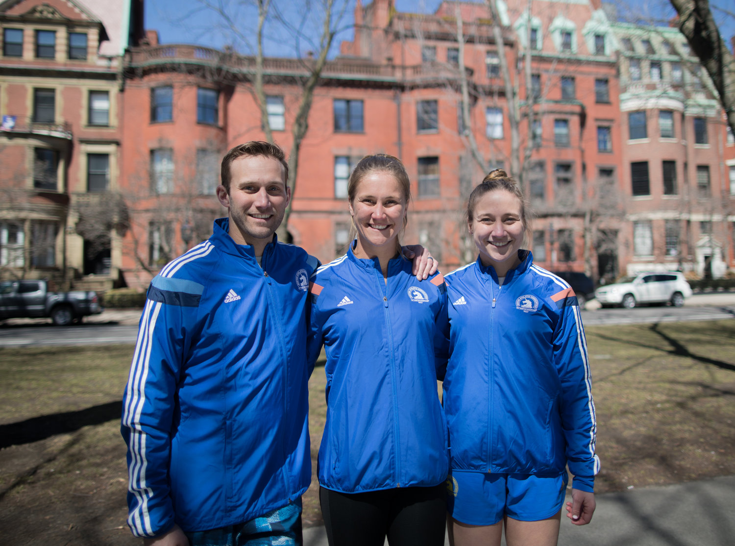 From left, Peter, Kate and Charlotte are set to run in the Boston Marathon on Monday, their first 26.2-mile race. The Cipolletti Family