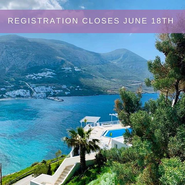 Take every chance you get in life because some things only happen once. It's true! Don't miss your chance to have the travel experience of a lifetime with us September 21-28, 2019, on the beautiful island of Amorgos. Registration closes June 18th. Grab your spot so you can get your yoga on in Greece! Link in bio. @darlingemily @darlingyogakc  @aegialis_hotel_spa:⠀ ...⠀ .⠀ .⠀ .⠀ .⠀ .⠀ .⠀ .⠀ .⠀ .⠀ #yogaretreat #kcyoga #travelwithme #womenswellness #girlstrip #selfcare #greece_travel #yogaingreece #comewithme #yogaeverydamnday #travelgram #traveltogreece #amorgos
