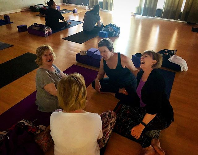 Need a little joy and laughter in your life? Join me for Yoga Basics Saturday mornings at 9:30 @darlingyogakc #joy #kcyoga