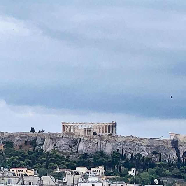 Amazing view of the Acropolis! #athens #greece #yogaretreat @darlingyogakc @darlingemily