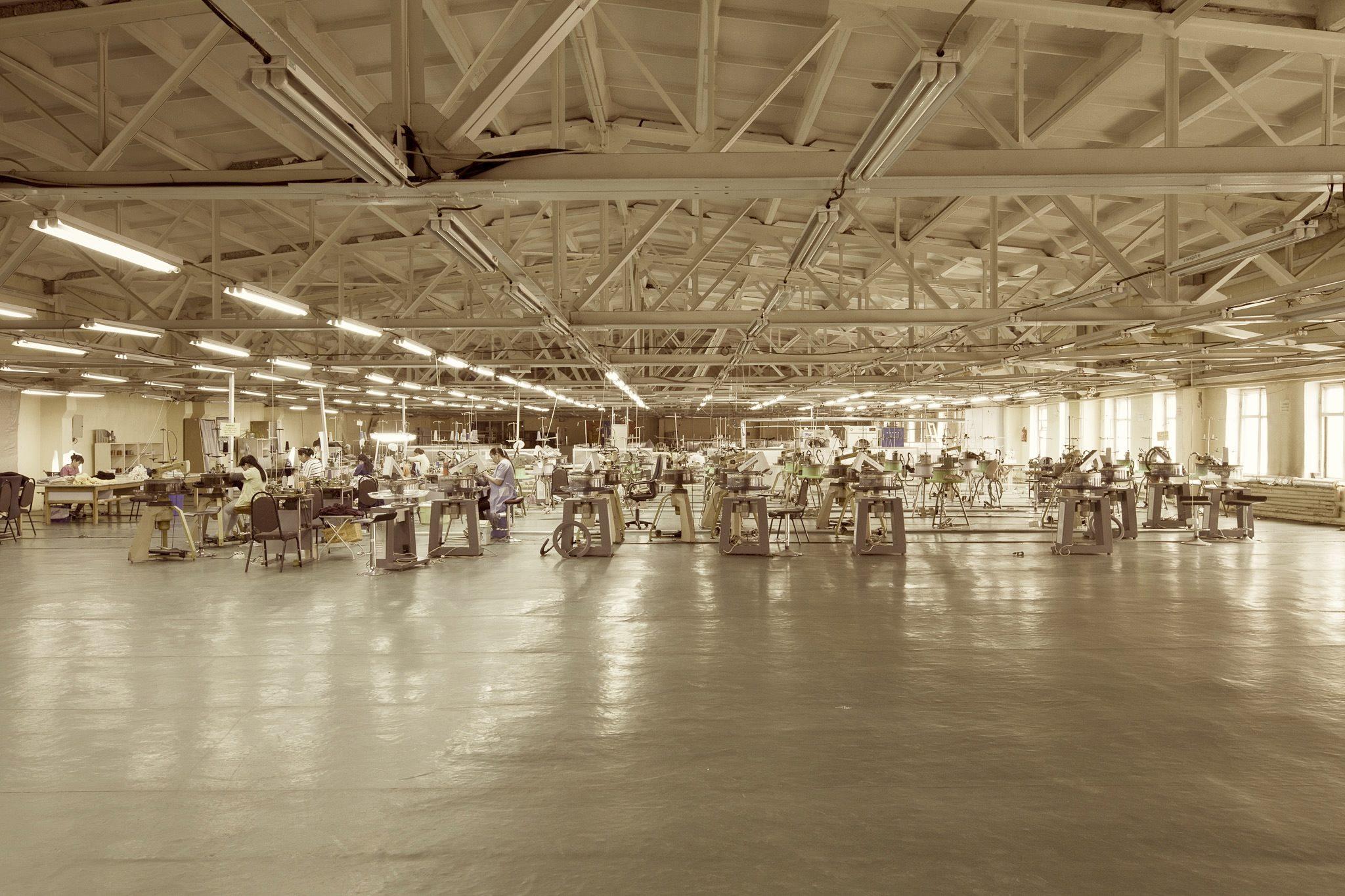 This is the factory in Ulaanbaatar, Mongolia. It is next door to Loro Piana's factory in Ulaanbaatar.