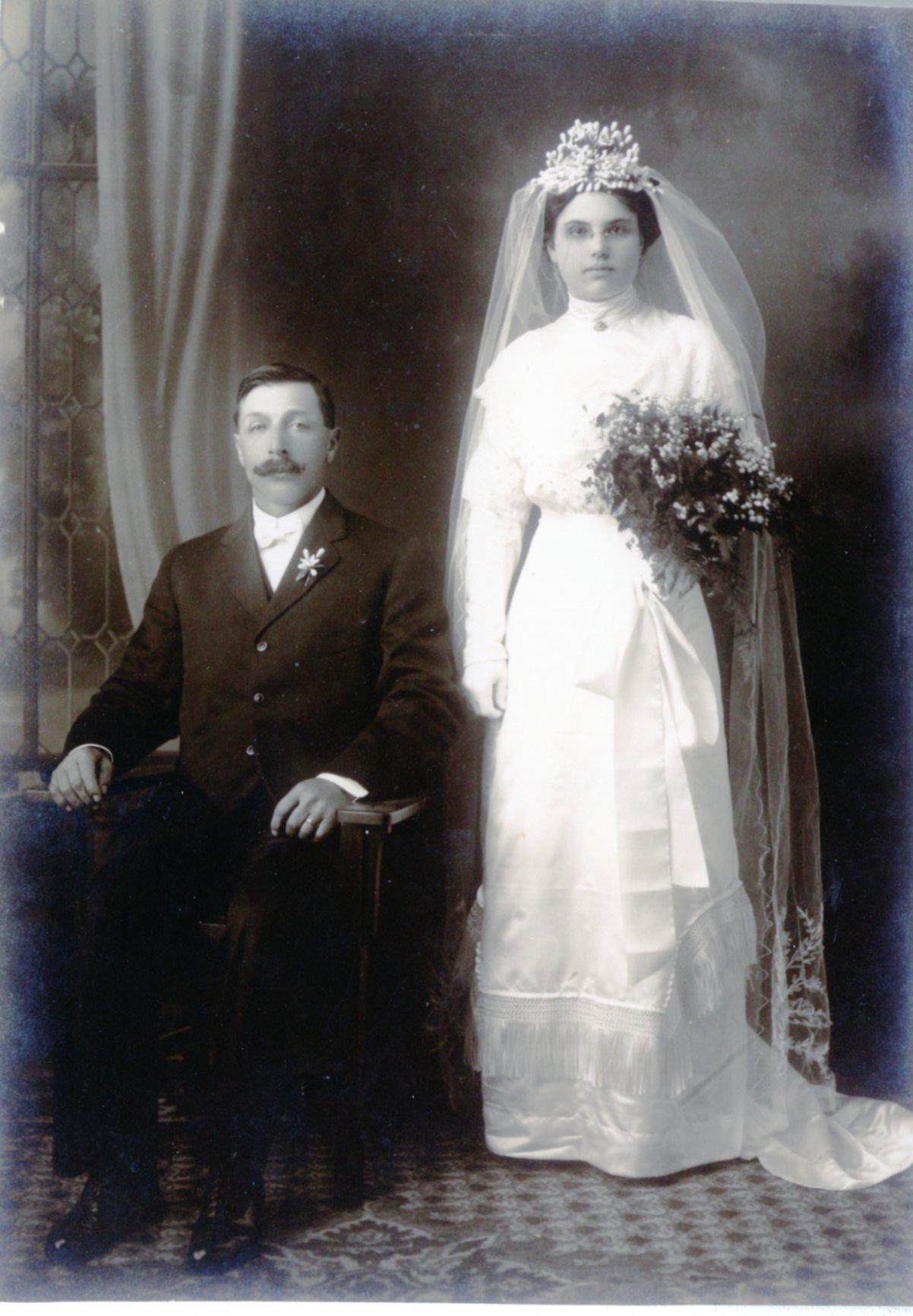 Adolph and Clara Friedrich Wedding in 1912