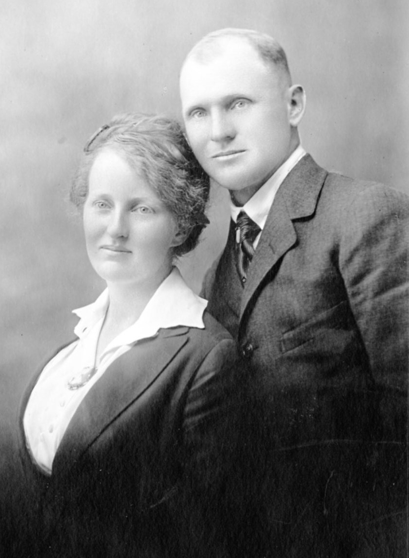 May 19, 1919; Simon and Ethel Hays on their wedding day