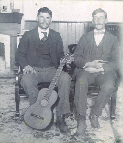 Albert Hunt and E.S. McGrew, 1898, in the  Conejo Hotel