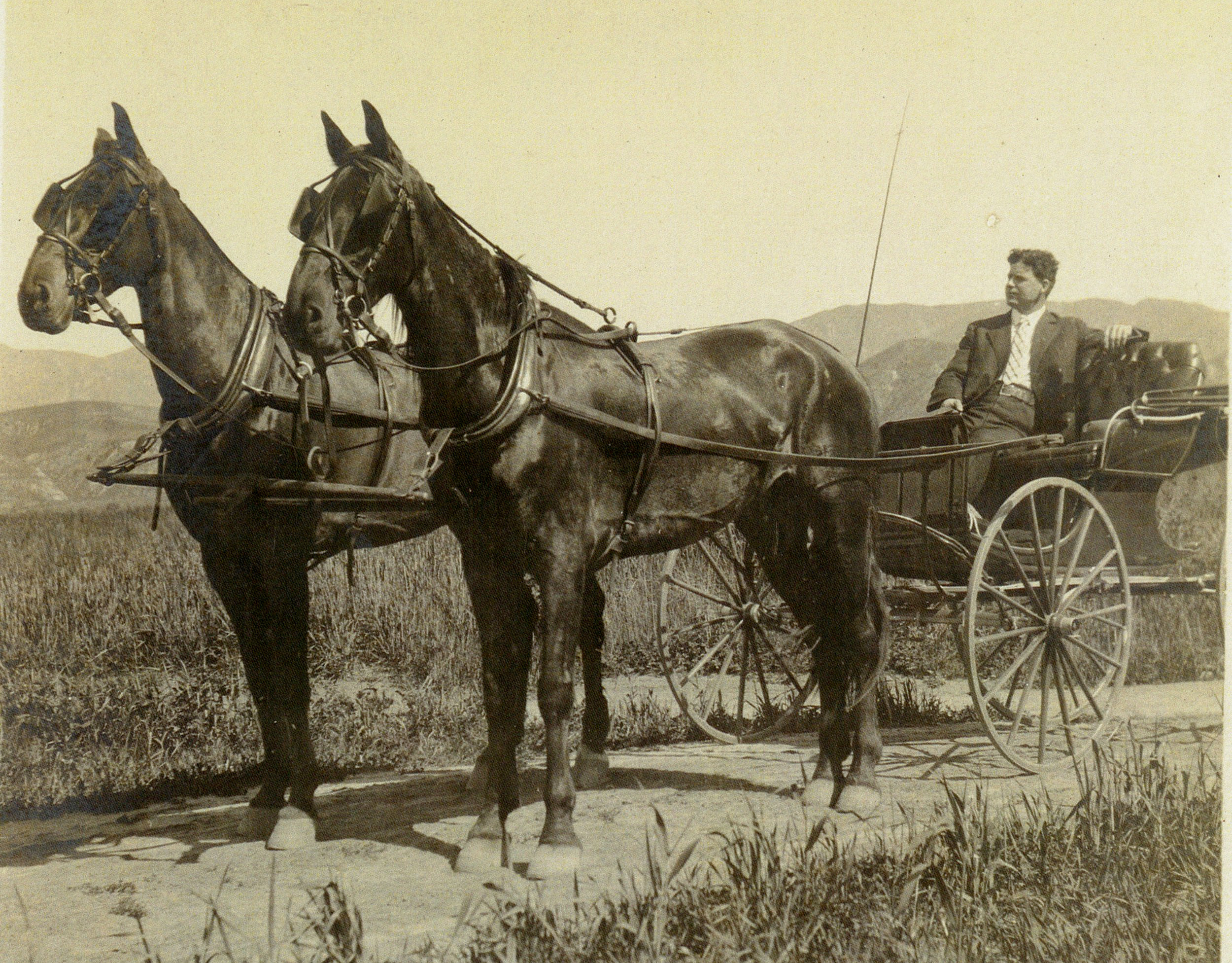 Fred Hunt in the hills around Escondido, around 1913. (Alice A. Thurman collection)