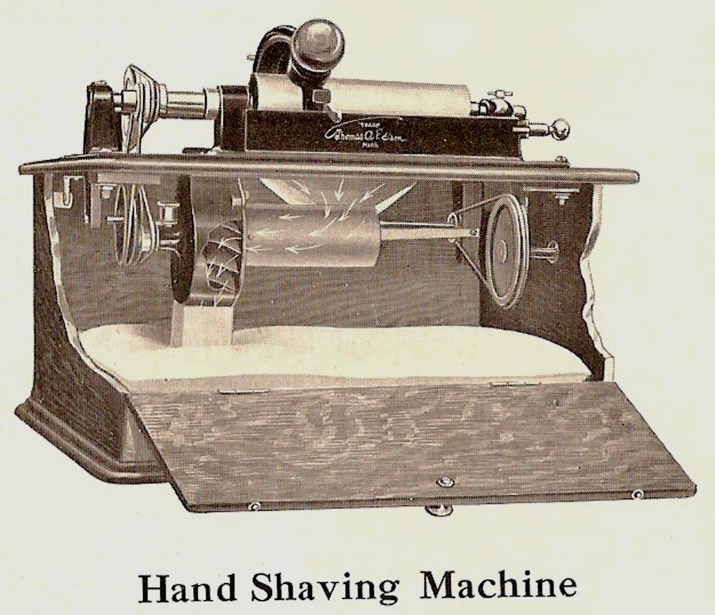 1912 Edison Hand Shaving Machine