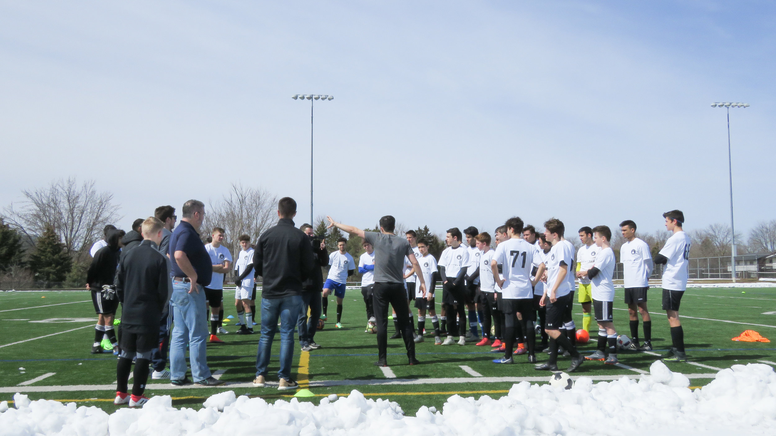 Director of Soccer, Santiago Almada kicking things off at the Combine.