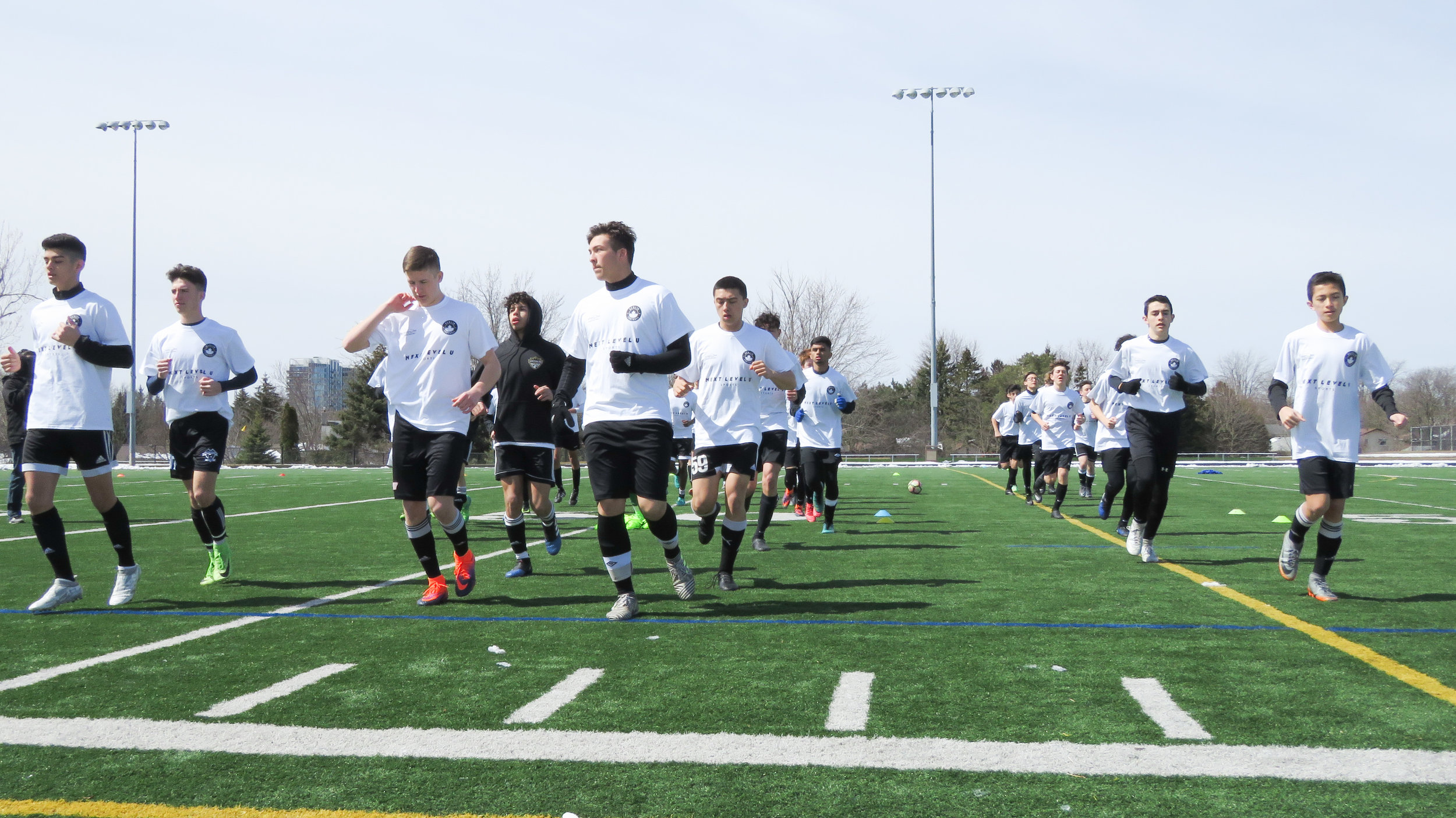 The players put through their paces.