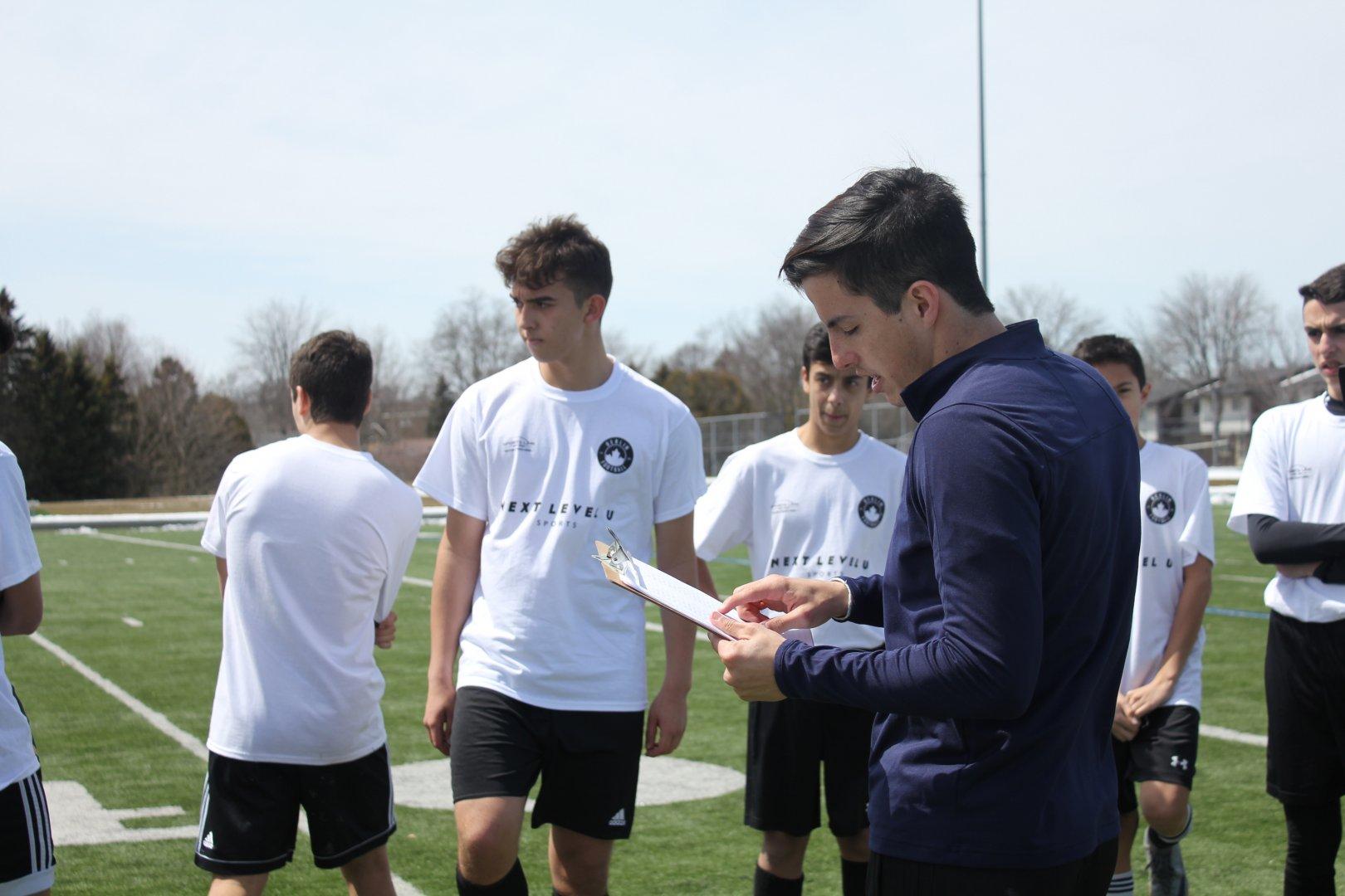 Santiago Almada giving instructions at the Berlin Academy Combine (2018). Image Courtesy: Berlin Football Academy