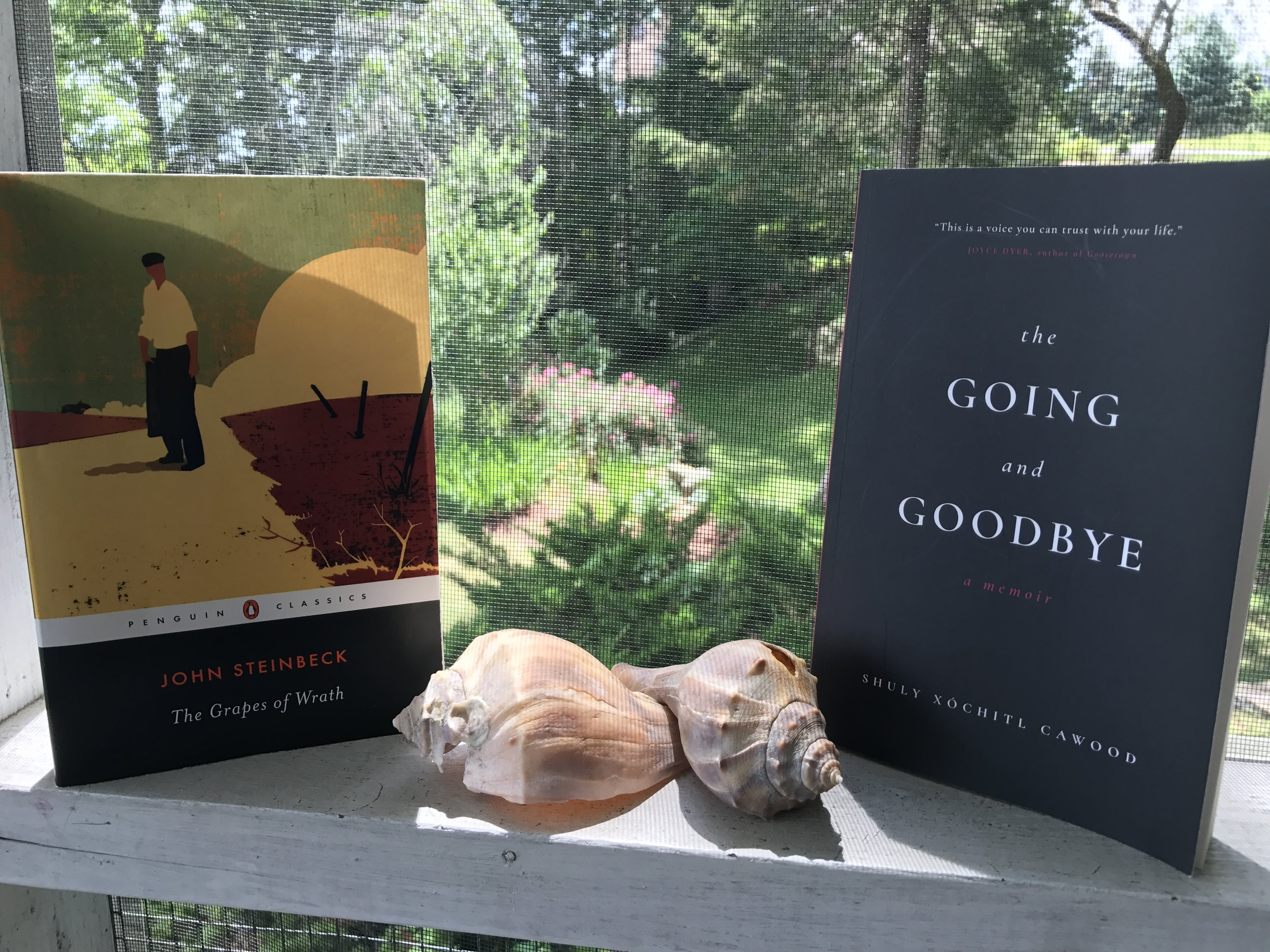Coming in August... - Chris and Emily are doing a read along of the Grapes of Wrath by John Steinbeck.The next author spotlight with Shuly Cawood to discuss her new memoir: The Going and Goodbye.