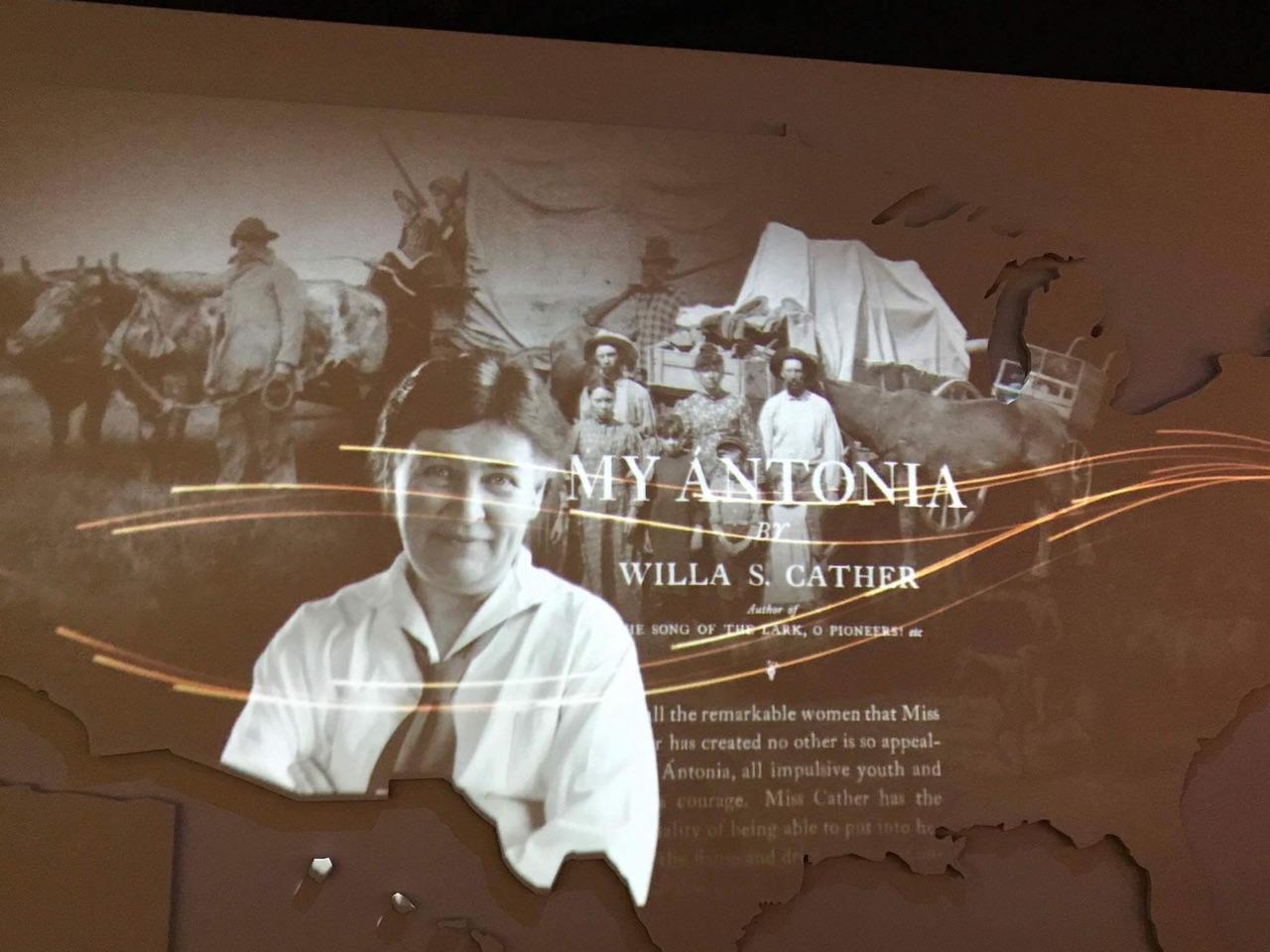 Willa Cather exhibit at the American Writers Museum.