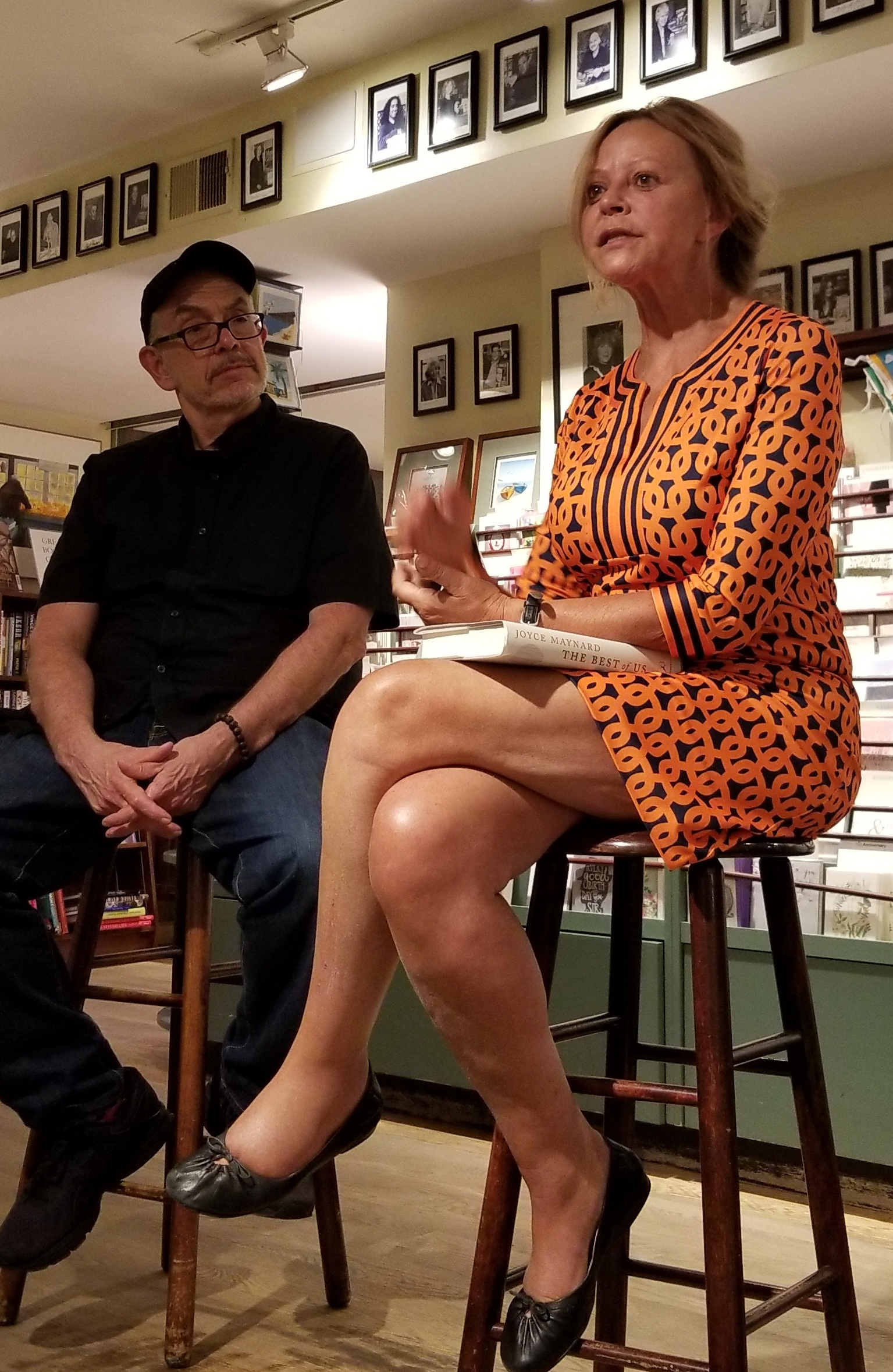 Joyce Maynard author of  The Best of Us  in conversation with Wally Lamb at RJ Julia's in Madison, CT.